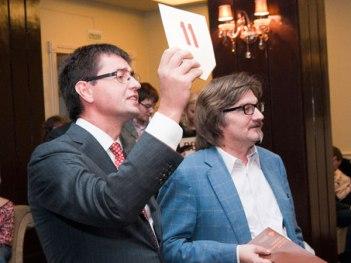 Руслан Тагиев, генеральный директор TNS Gallup Media, и Сергей Пискарев, генеральный директор «Газпром-Медиа»